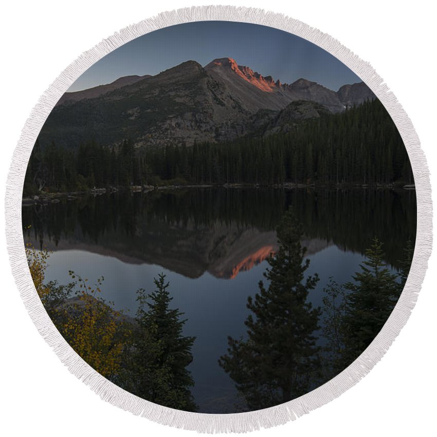 Bearlake Round Beach Towel featuring the photograph Bear Lake by Gary Lengyel