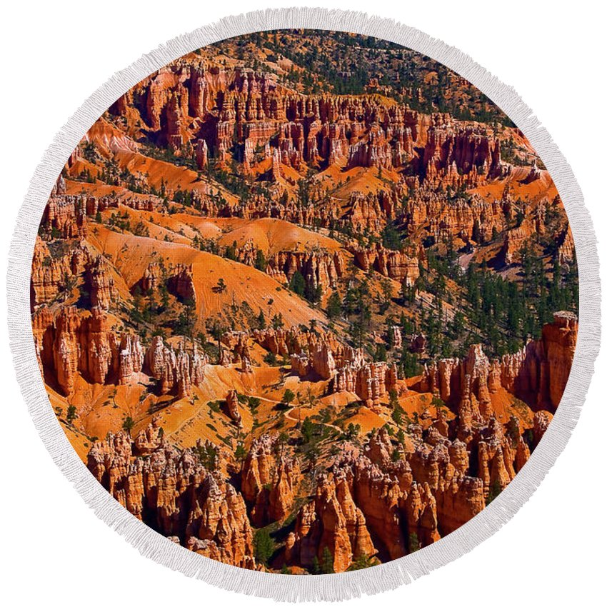 Bryce Canyon Round Beach Towel featuring the photograph Beautiful Bryce Canyon by James BO Insogna