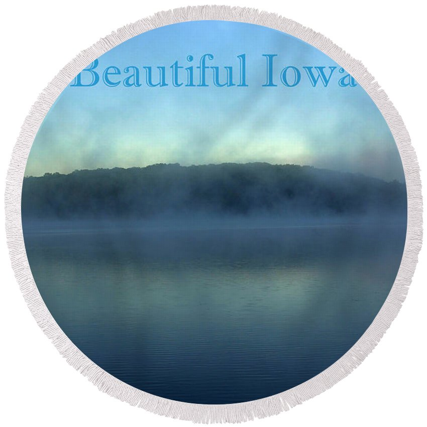 Beautiful Round Beach Towel featuring the photograph Beautiful Iowa by Gary Richards