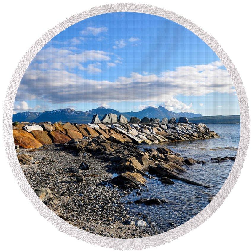Tamara Sushko Round Beach Towel featuring the photograph Beautiful Sea View by Tamara Sushko