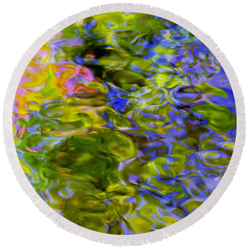 Abstract Round Beach Towel featuring the photograph Potential Of The Cosmos by Sybil Staples