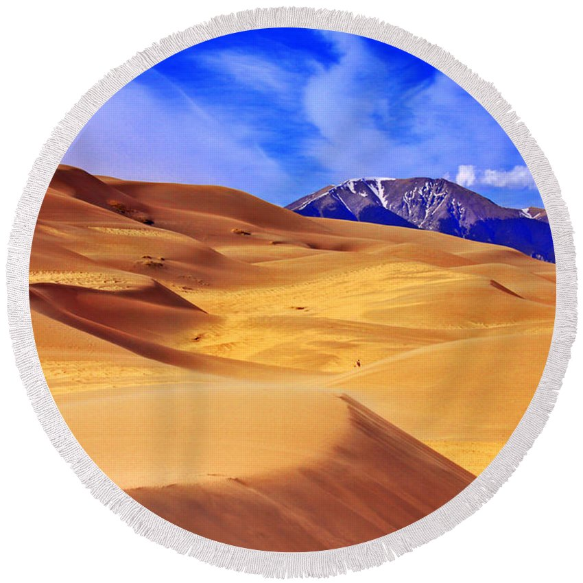 The Dunes Round Beach Towel featuring the photograph Beauty Of The Dunes by Scott Mahon