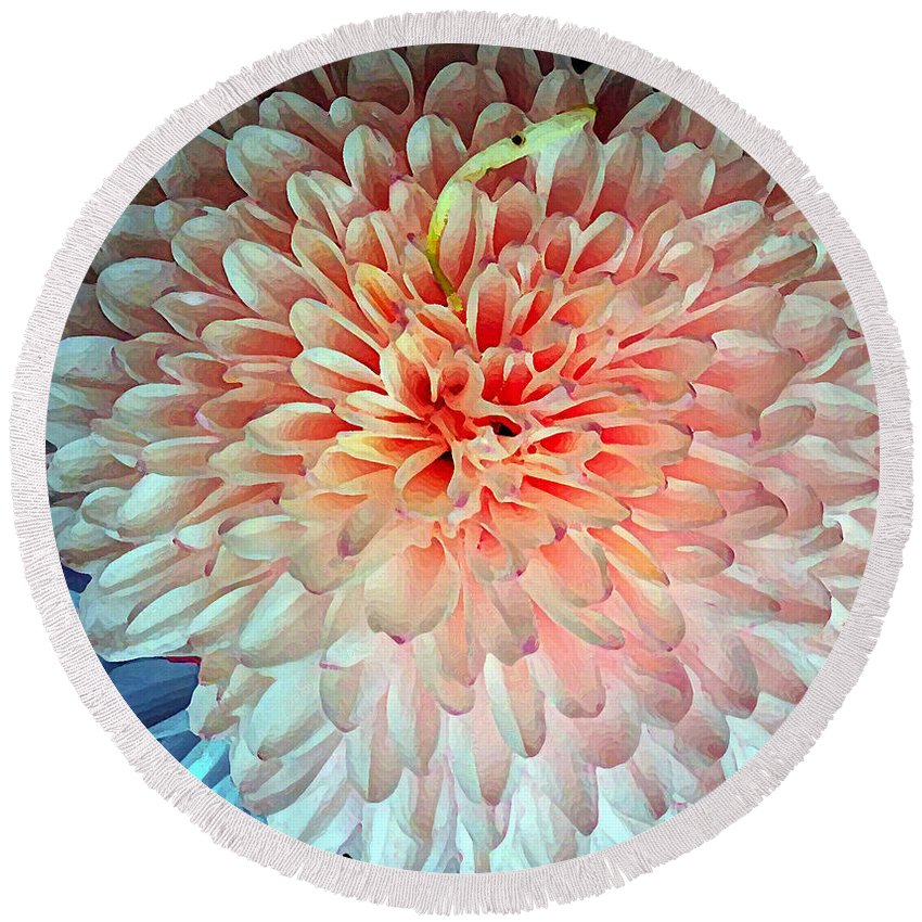 Flower Round Beach Towel featuring the photograph Beauty The Round by Jasna Dragun