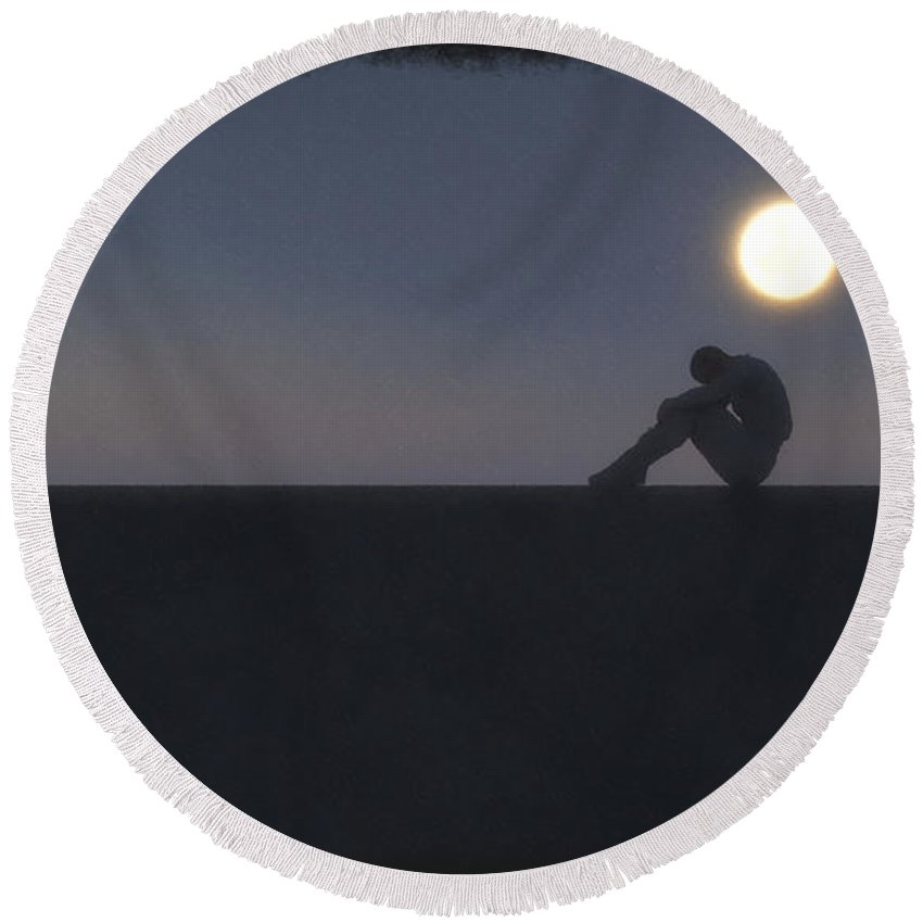 Being Round Beach Towel featuring the digital art Being A Good Man... by Tim Fillingim