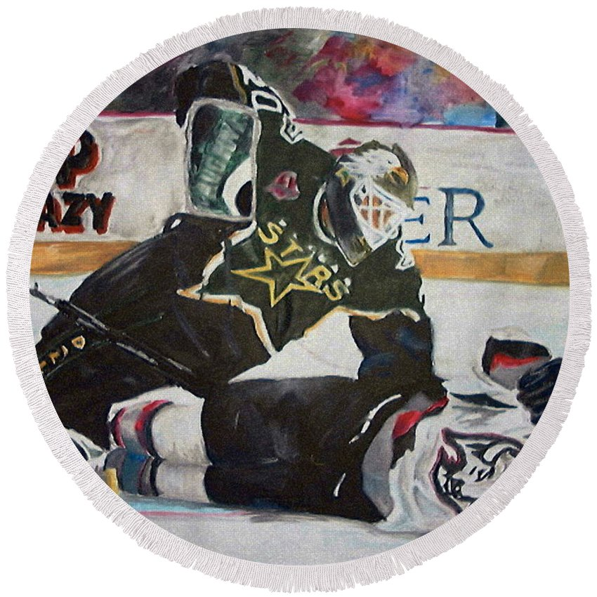 Belfour Round Beach Towel featuring the painting Belfour by Travis Day
