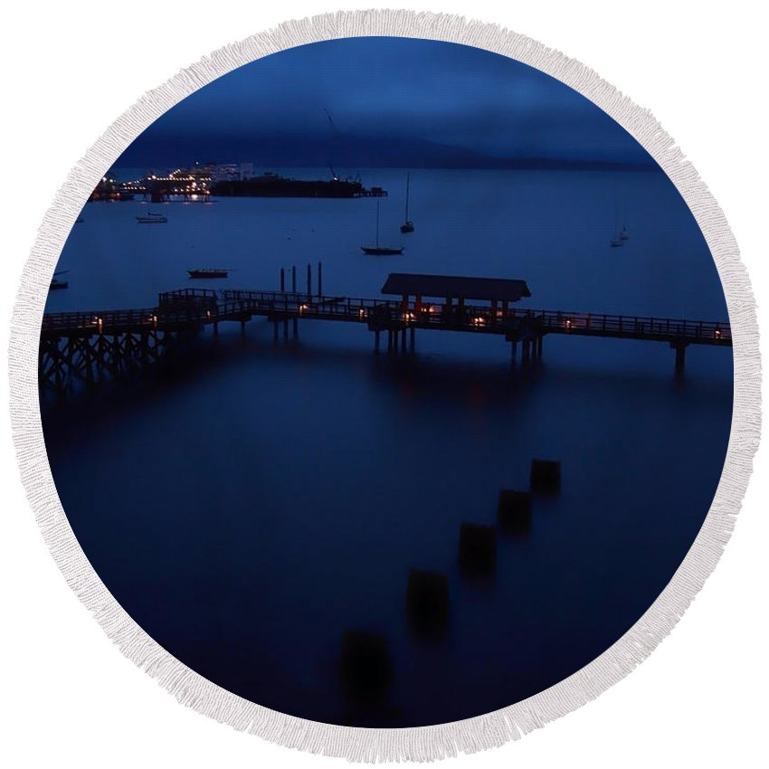 Bellingham Bay Round Beach Towel featuring the photograph Bellingham Bay by Donna Blackhall