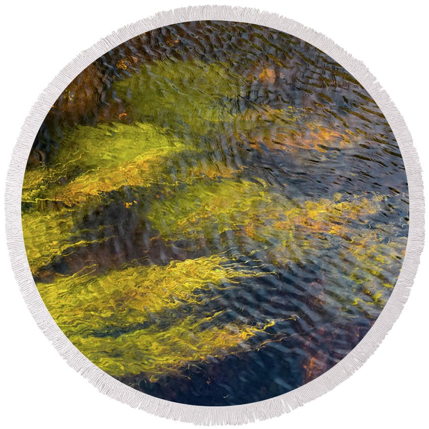 Donegal Round Beach Towel featuring the photograph Beneath The Water by Shawn Williams