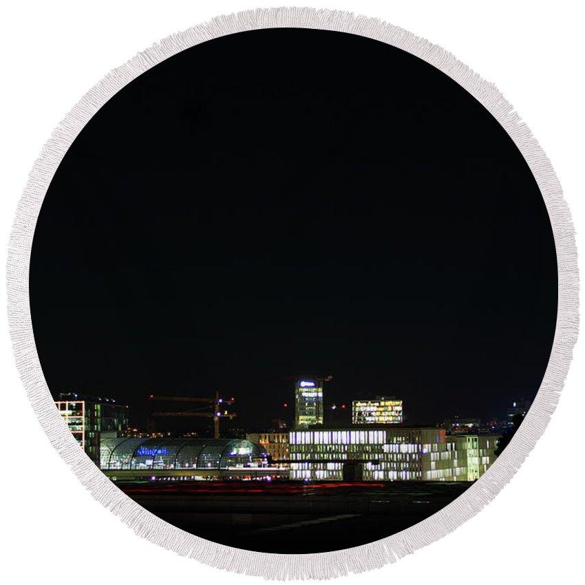 Berlin Round Beach Towel featuring the photograph Berlin City by Matteo Patti