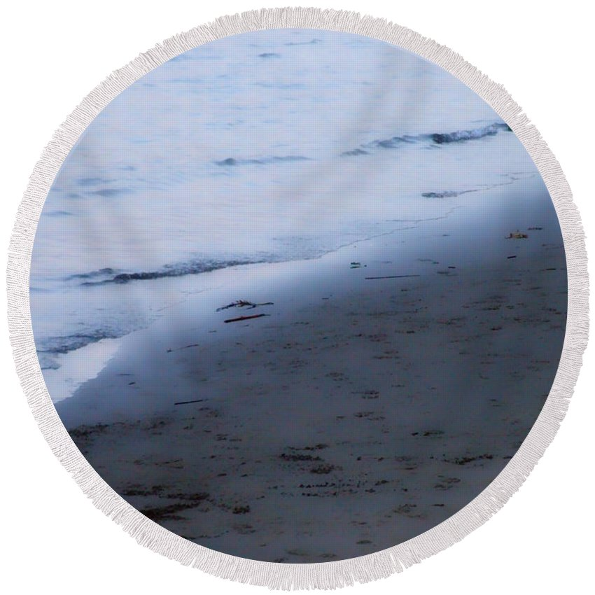 Beach Round Beach Towel featuring the photograph Between Light And Shadow by Donna Blackhall