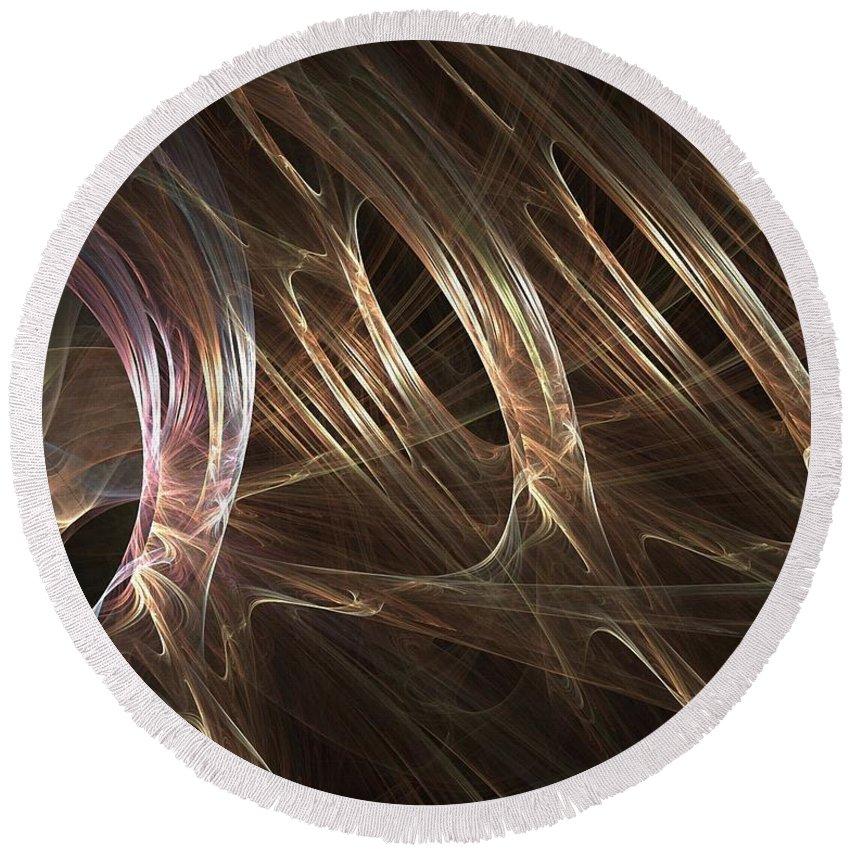 Blonde Round Beach Towel featuring the digital art Blonde by Ron Bissett