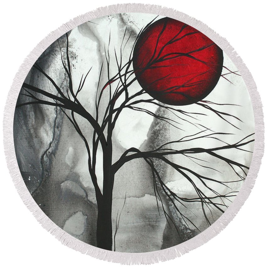 Huge Round Beach Towel featuring the painting Blood Of The Moon 2 By Madart by Megan Duncanson