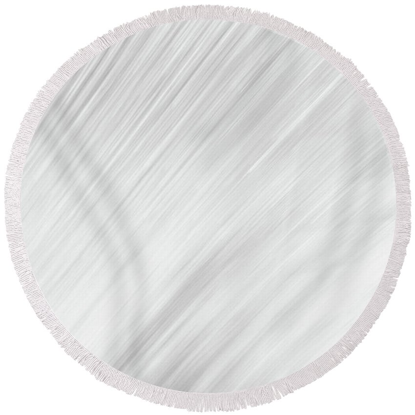 Abstract Round Beach Towel featuring the photograph Blurred #4 by Michael Niessen