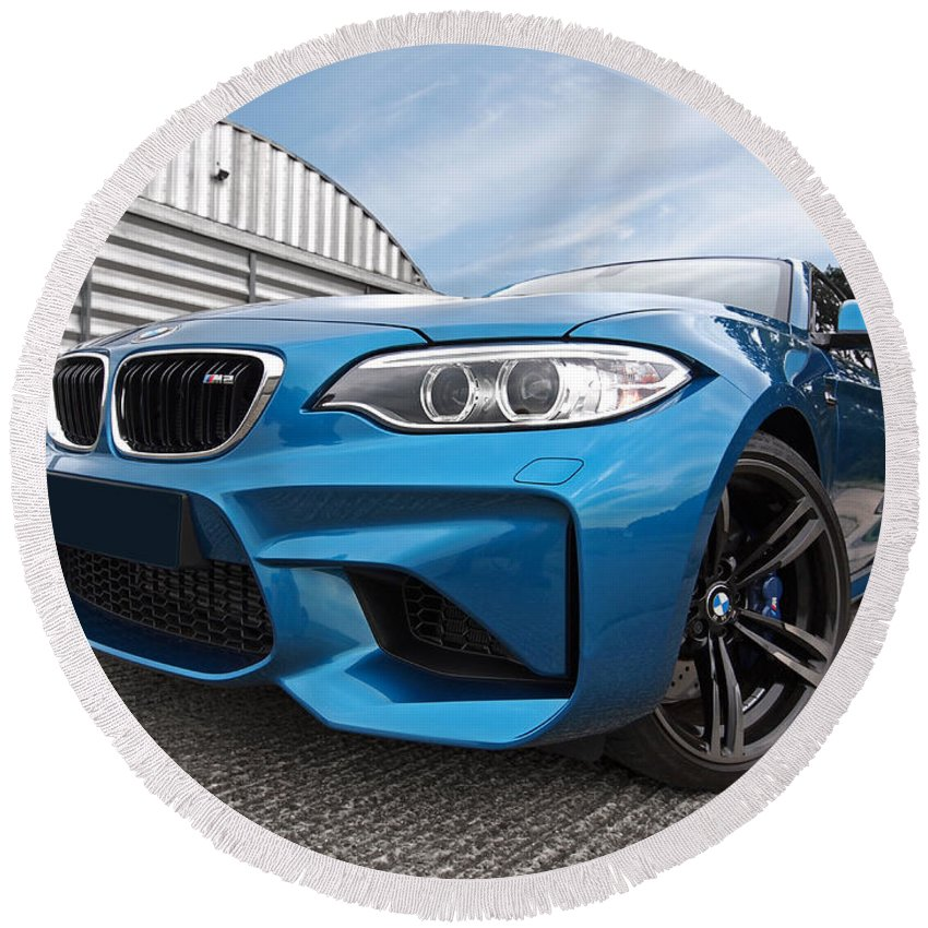 Bmw Round Beach Towel featuring the photograph Bmw M2 Coupe by Gill Billington