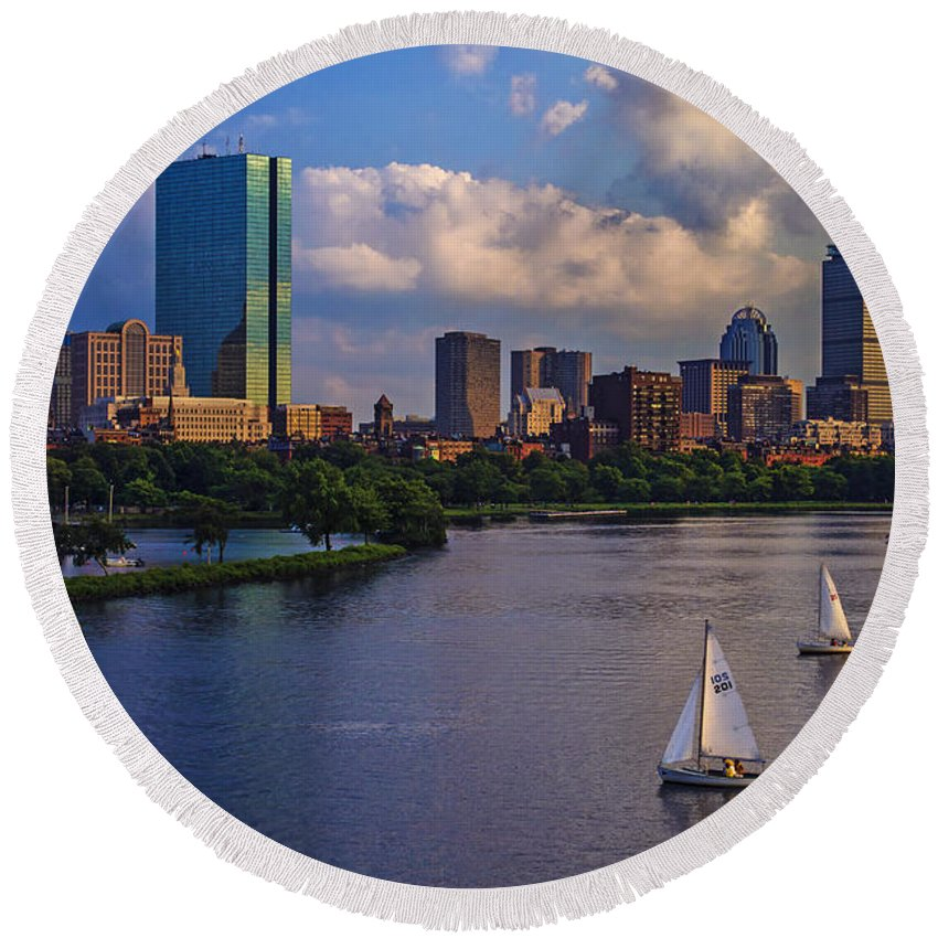 Boston Round Beach Towels