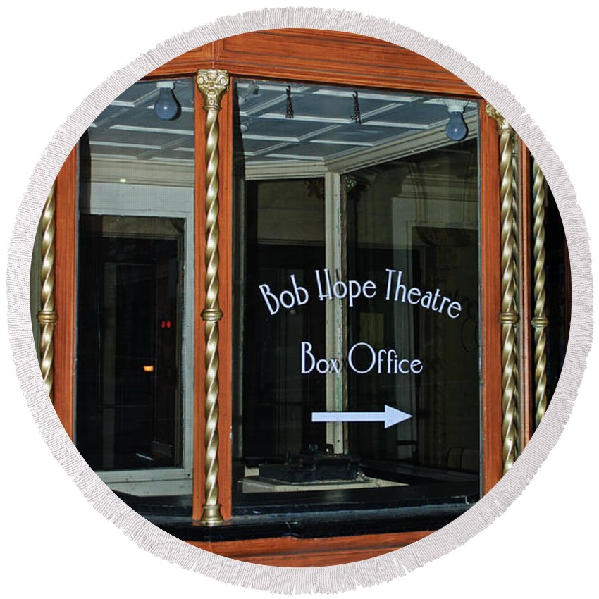 Box Office Round Beach Towel featuring the photograph Box Office by Tikvah's Hope