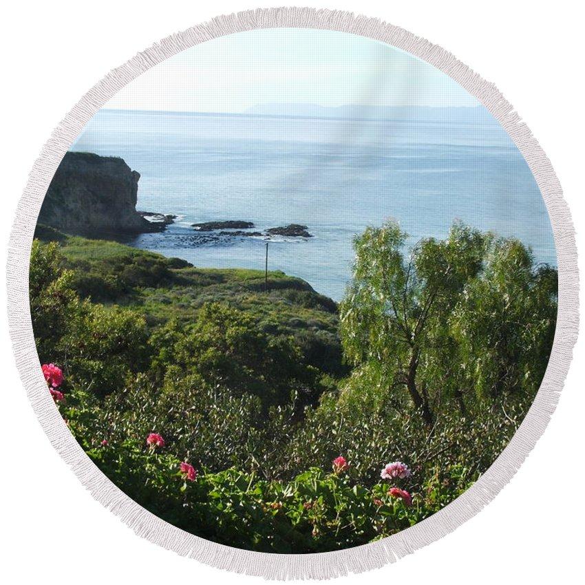 Landscape Round Beach Towel featuring the photograph Breath Of Fresh Air by Shari Chavira