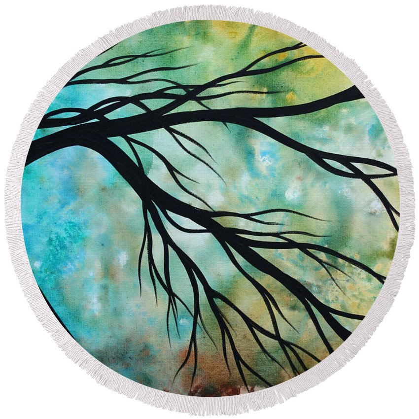 Art Round Beach Towel featuring the painting Breathless 2 By Madart by Megan Duncanson