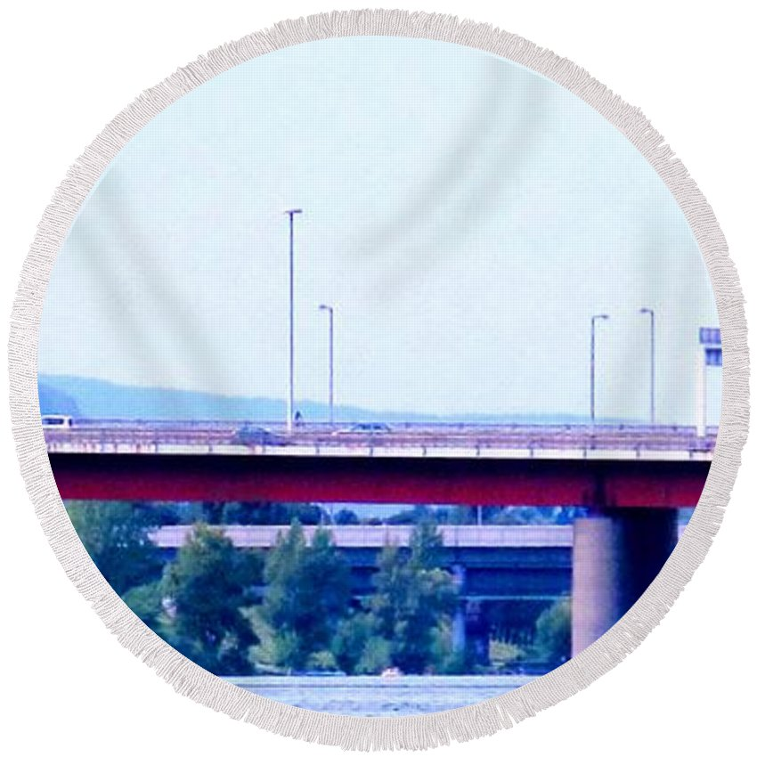 Vienna Round Beach Towel featuring the photograph Bridges To The Vienna Woods by Ian MacDonald