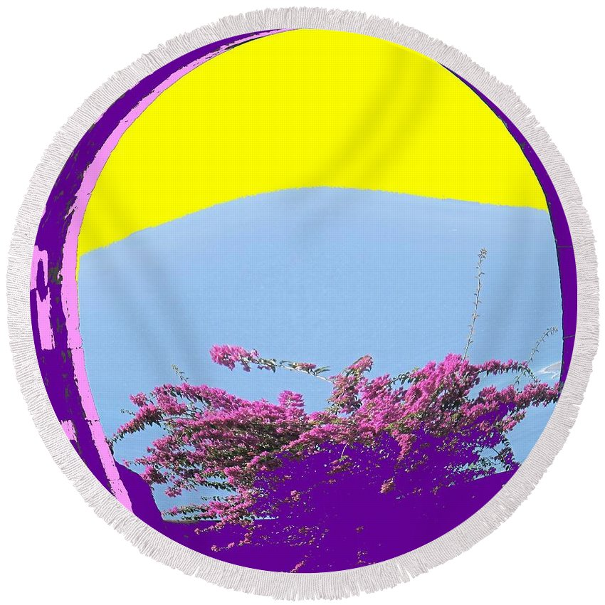 Brimstone Round Beach Towel featuring the photograph Brimstone Gate by Ian MacDonald