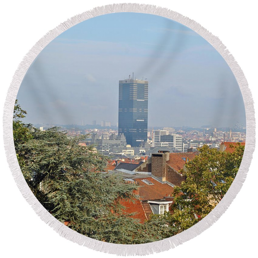 Brussels Round Beach Towel featuring the photograph Brussels View by Jost Houk