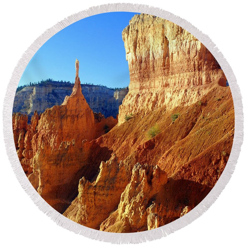 Bryce Canyon National Park Round Beach Towel featuring the photograph Bryce 4 by Marty Koch
