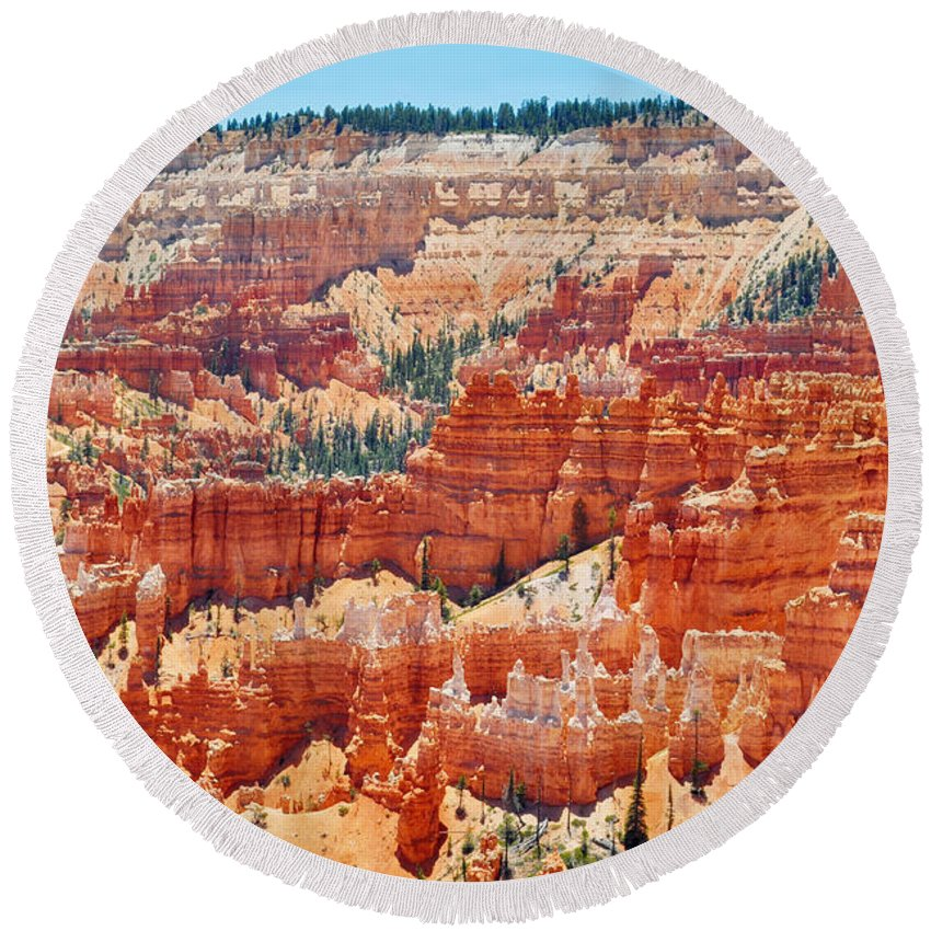 Bryce Canyon National Park Round Beach Towel featuring the photograph Bryce Canyon Fairyland Point by Kyle Hanson