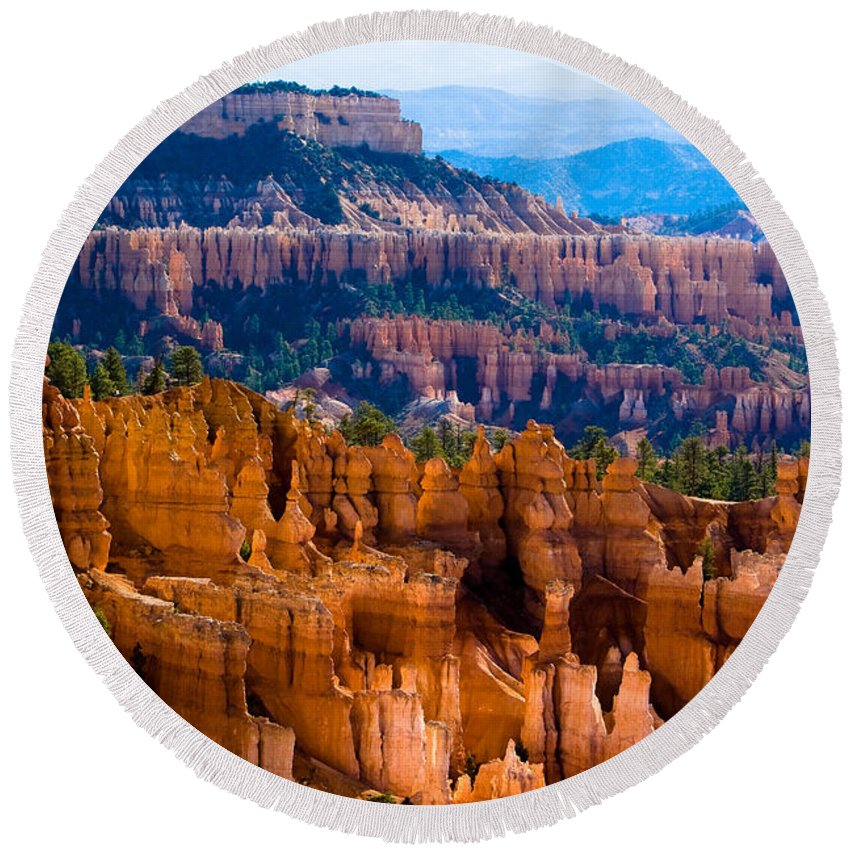 Bryce Canyon Round Beach Towel featuring the photograph Bryce Canyon by James BO Insogna