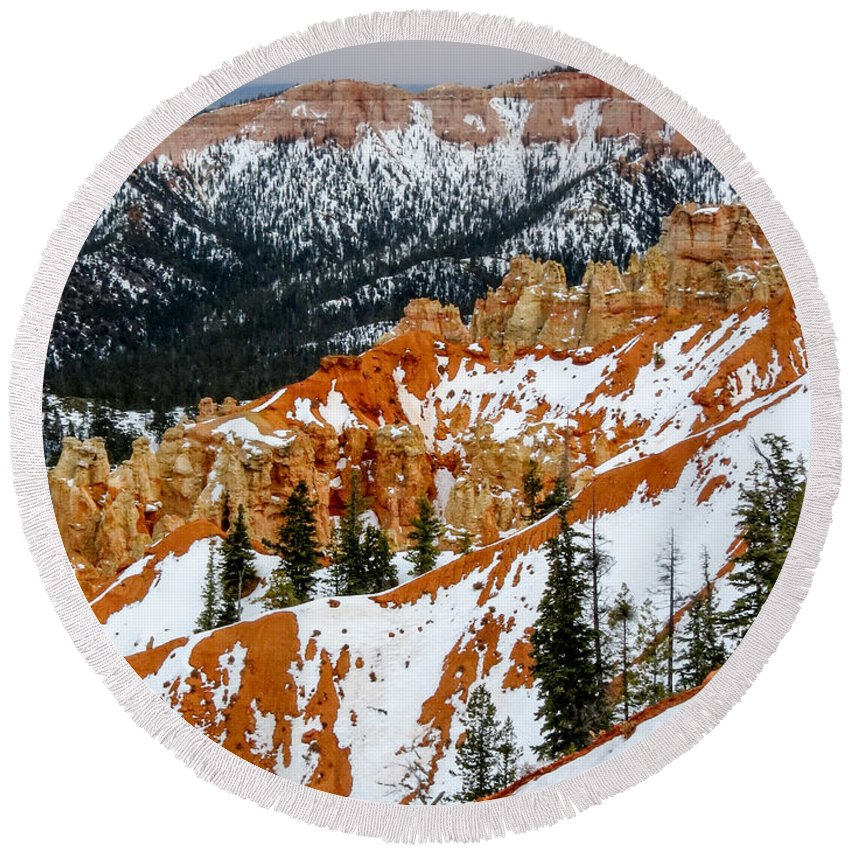 Bryce Canyon National Park Round Beach Towel featuring the photograph Bryce Canyon Series #1 by Patti Deters