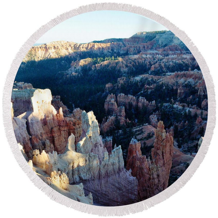 Bryce Canyon National Park Round Beach Towel featuring the photograph Bryce Canyon Sunset Point by Kyle Hanson