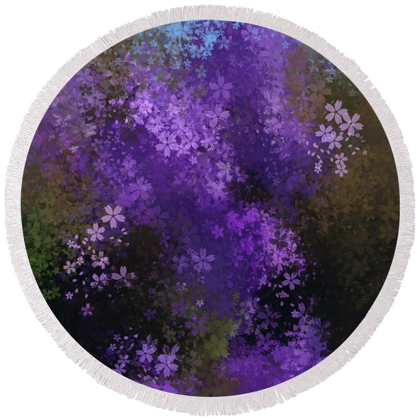 Featured Round Beach Towel featuring the photograph Bursting Blooms by Jenny Revitz Soper