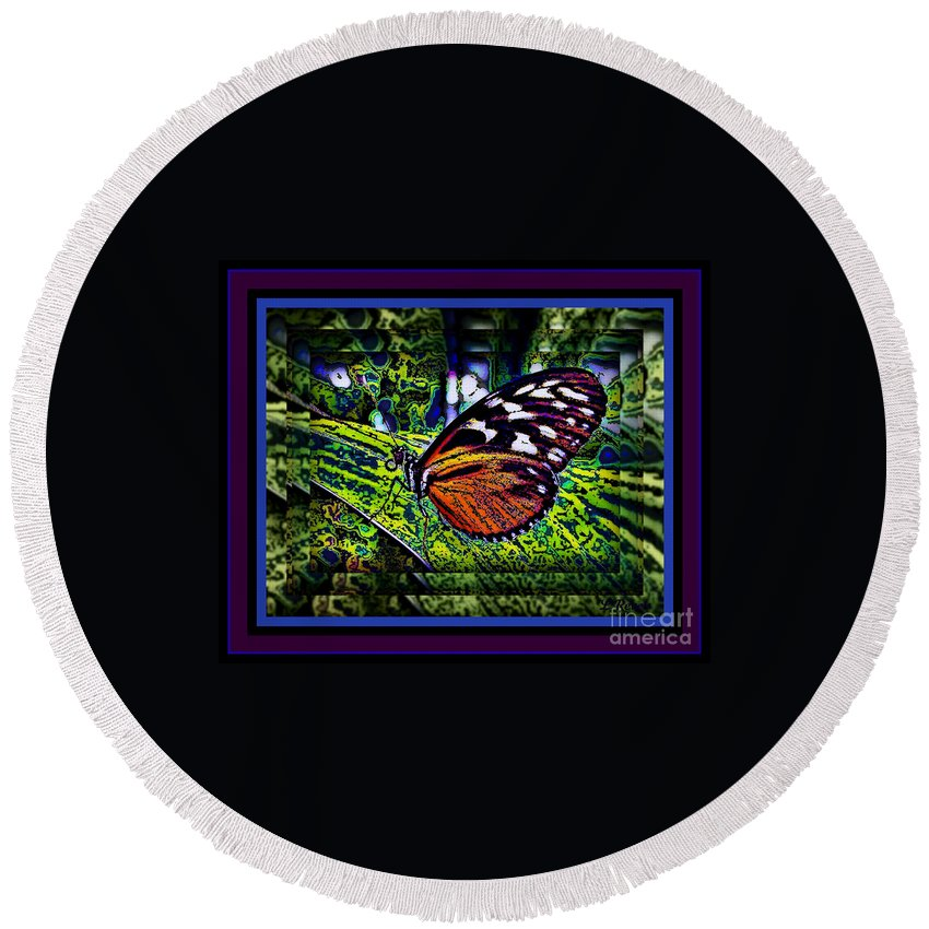 Butterfly Round Beach Towel featuring the photograph Butterfly Dreams by Leslie Revels