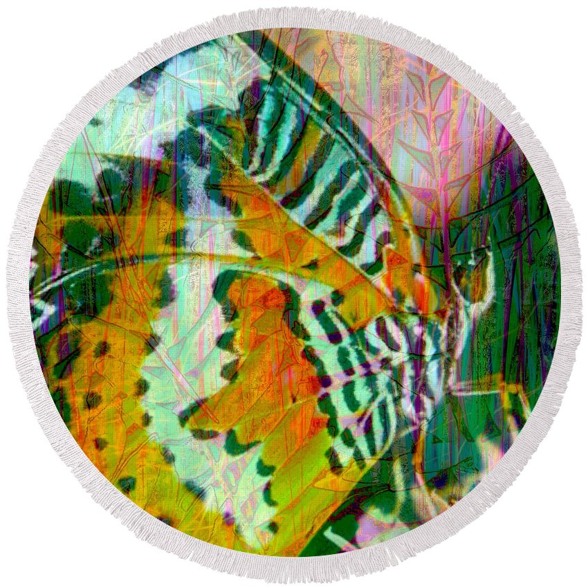 Butterfly Round Beach Towel featuring the photograph Butterfly Spirit by Anthony Robinson