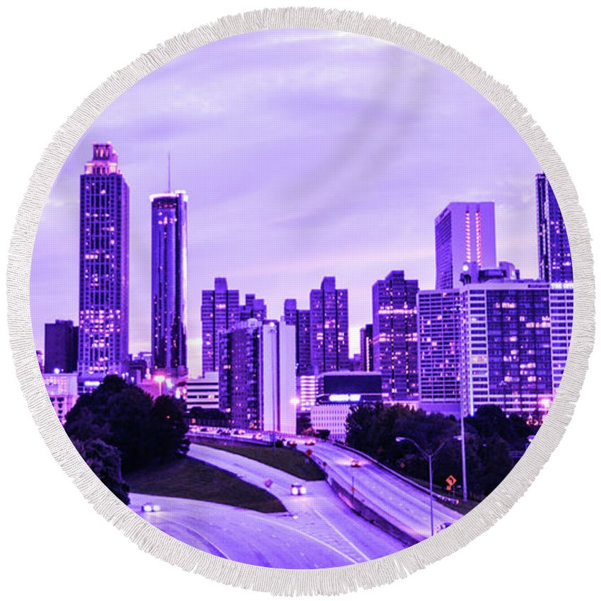 Atlanta Round Beach Towel featuring the photograph Calm After The Storm by Kennard Reeves