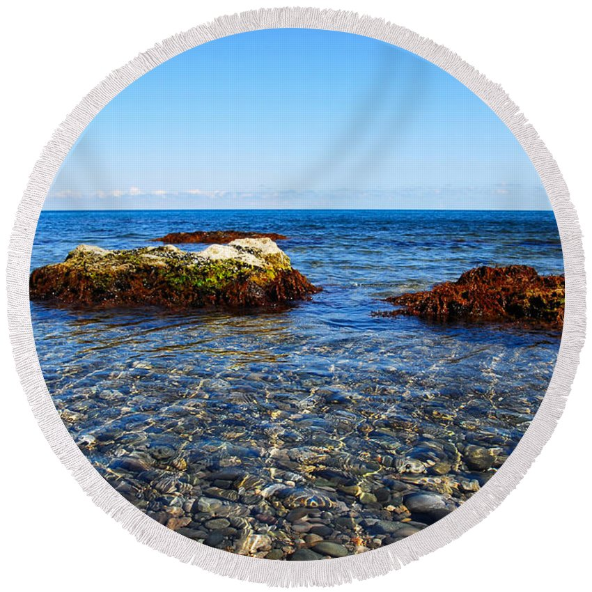 Clear Round Beach Towel featuring the photograph Calm by Yuri Hope