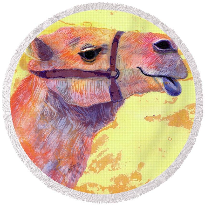 Camel Round Beach Towels