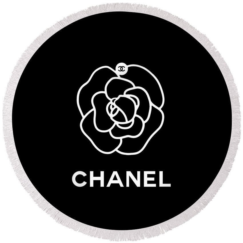 9596fb711d07 Camellia Chanel Round Beach Towel for Sale by Tres Chic