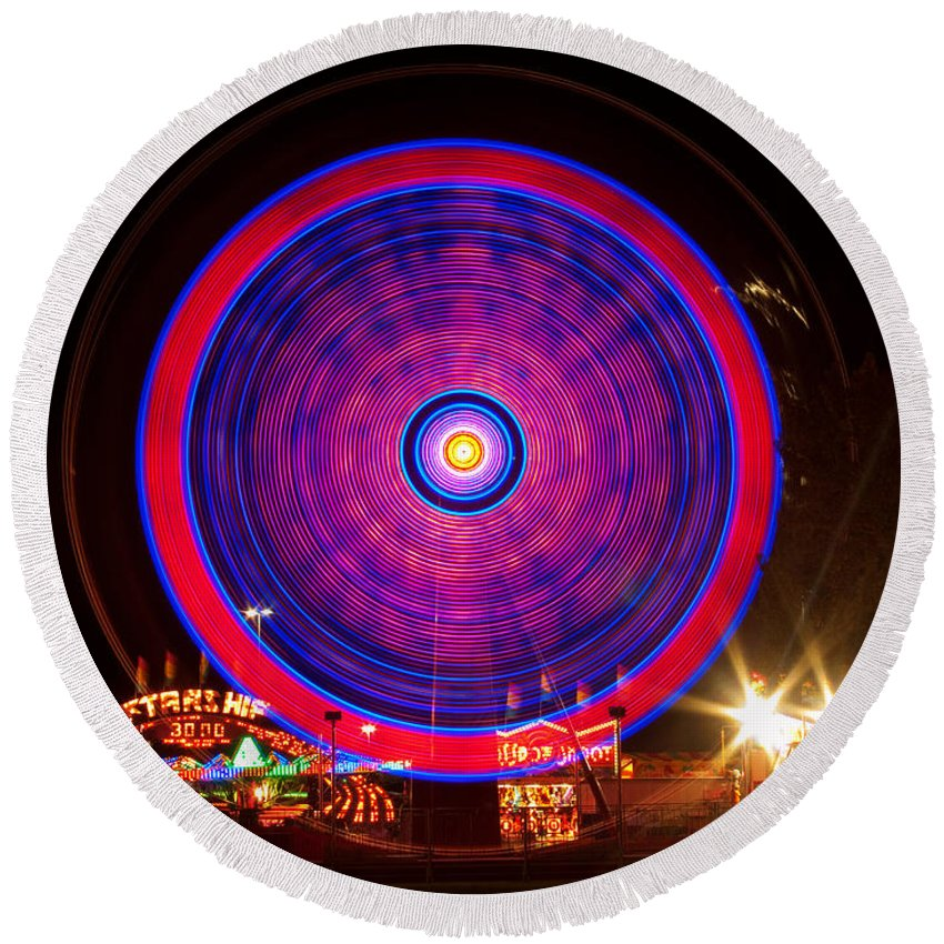 Carnival Images Round Beach Towel featuring the photograph Carnival Hypnosis by James BO Insogna