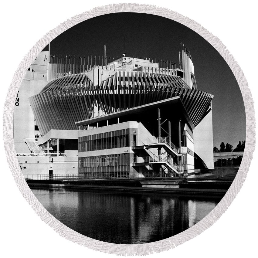 North America Round Beach Towel featuring the photograph Casino Montreal by Juergen Weiss