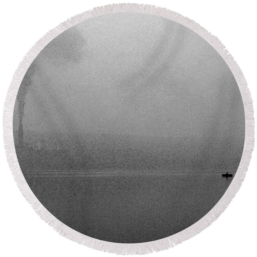 Solitude Round Beach Towel featuring the photograph Cayuga Solitude by Jean Macaluso
