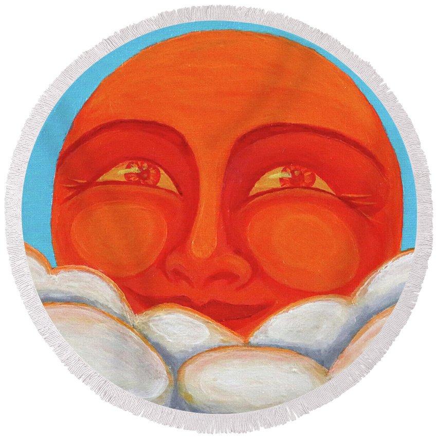 Celestial 2016 #1 Round Beach Towel