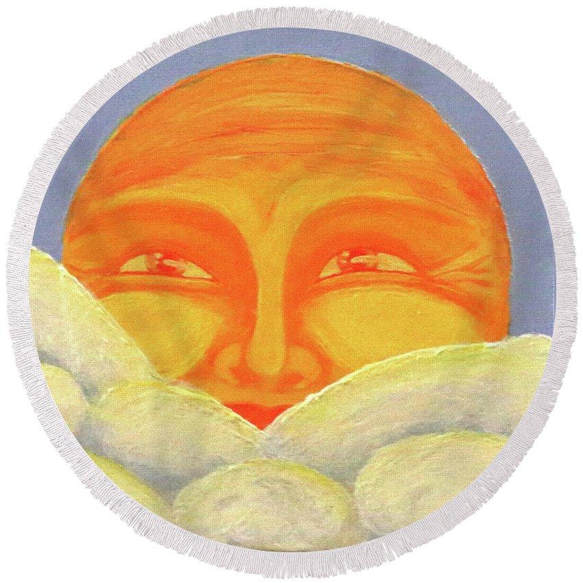 Celestial 2016 #2 Round Beach Towel