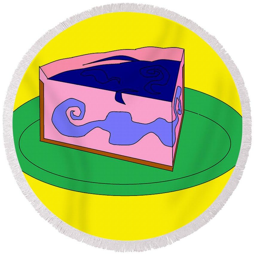 Cheese Cake Round Beach Towel featuring the digital art Ch19 by Rita Gehman
