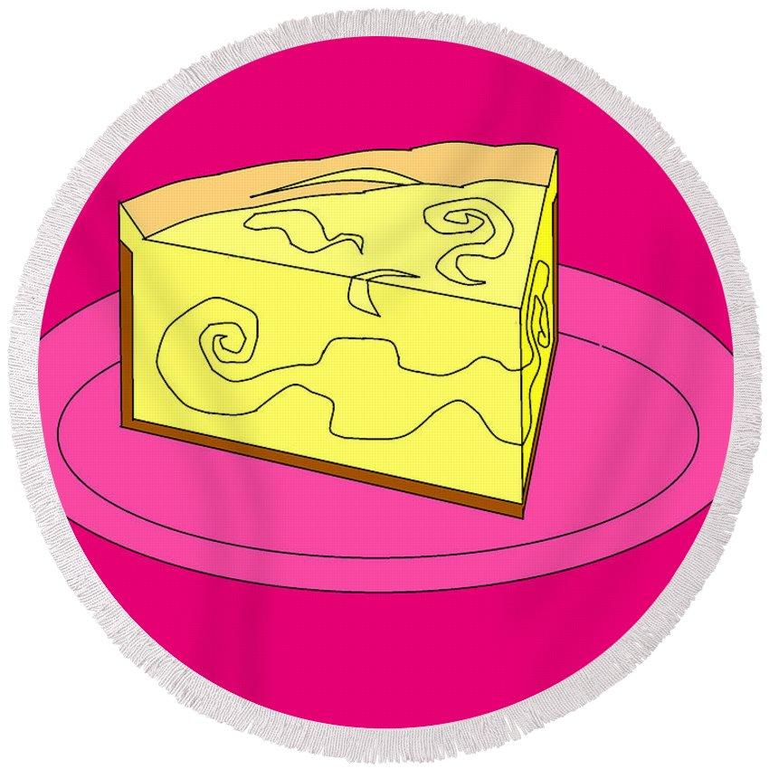Cheese Cake Round Beach Towel featuring the digital art Ch21 by Rita Gehman