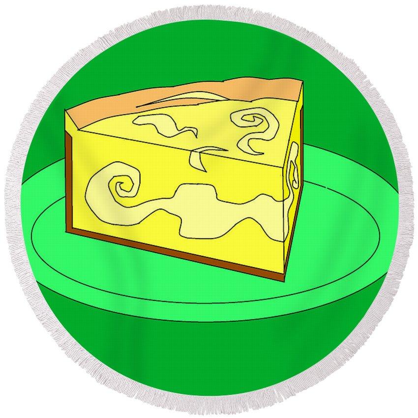 Cheese Cake Round Beach Towel featuring the digital art Ch32 by Rita Gehman