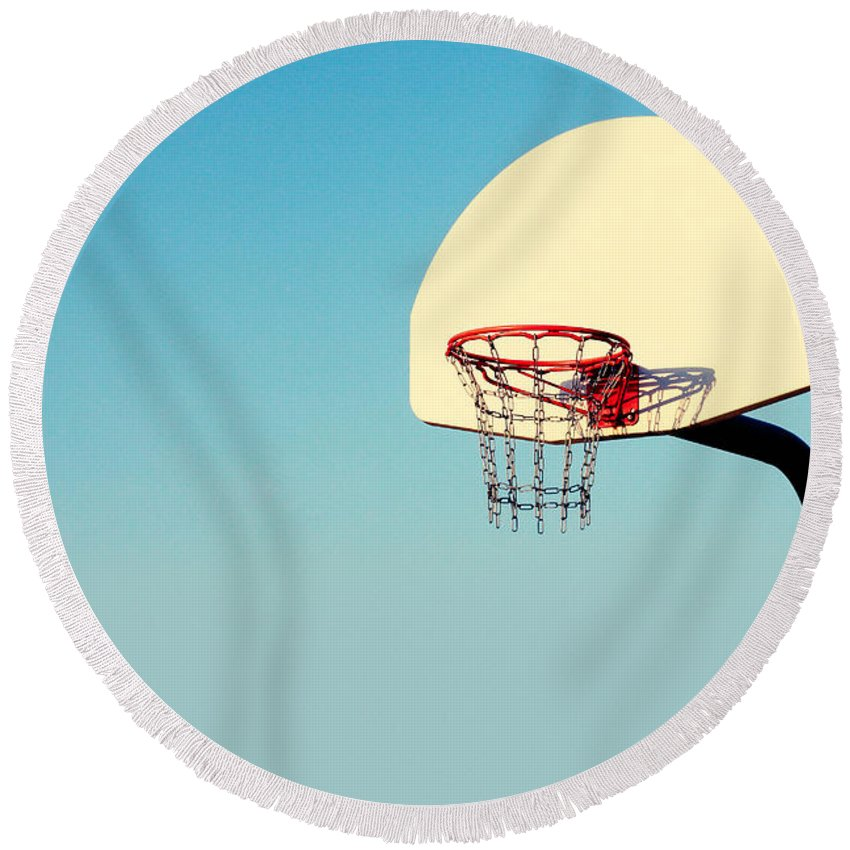 Hoops Round Beach Towels