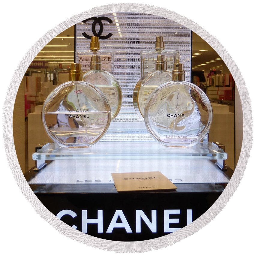 Chanels Round Beach Towel featuring the photograph Chanel Chance 2 by To-Tam Gerwe