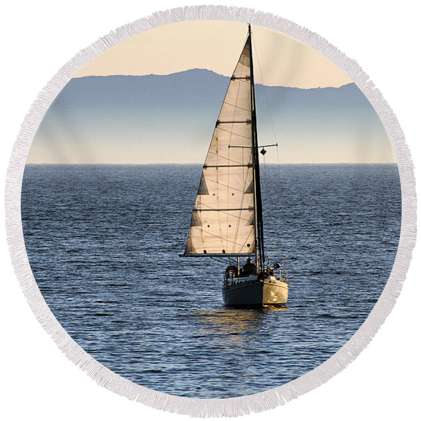 Clay Round Beach Towel featuring the photograph Chasing The Mist by Clayton Bruster