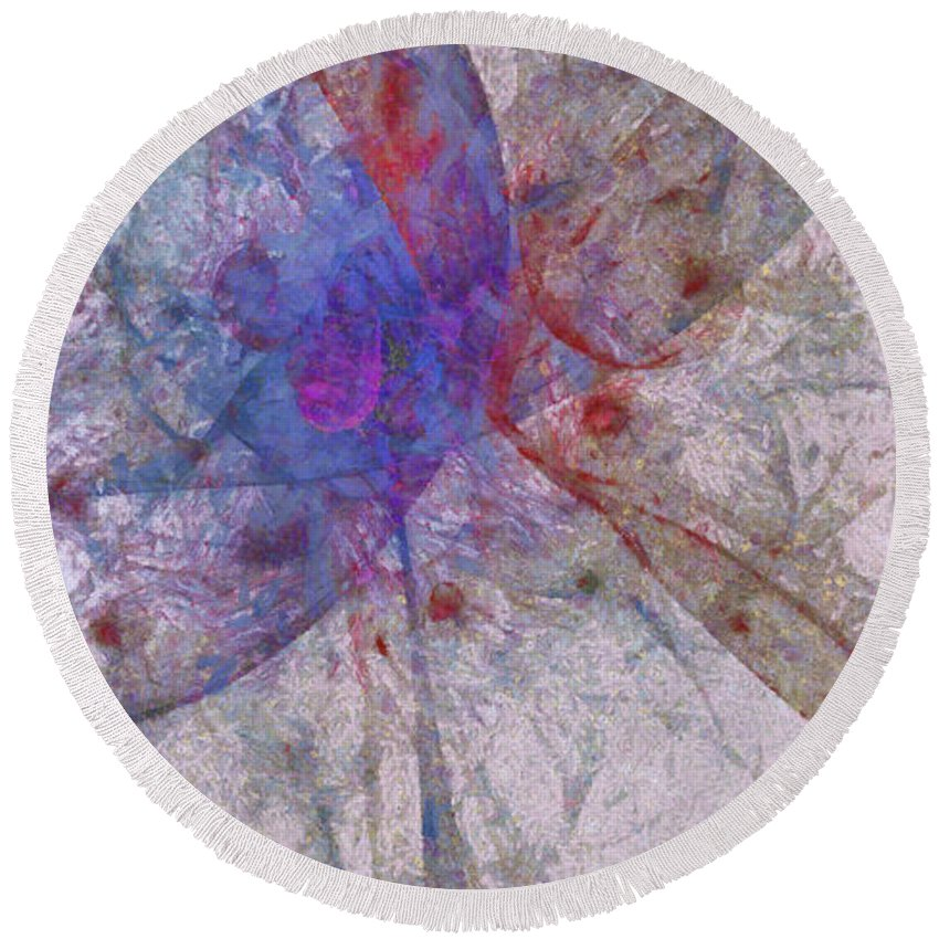 Ndr099 Round Beach Towel featuring the painting Cheaper Specter Id 16097-220357-58280 by S Lurk