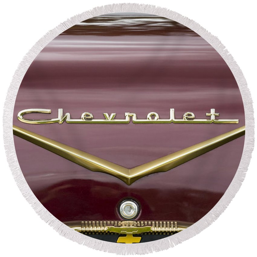 Chevrolet Round Beach Towel featuring the photograph Chevrolet 4 by Wendy Wilton