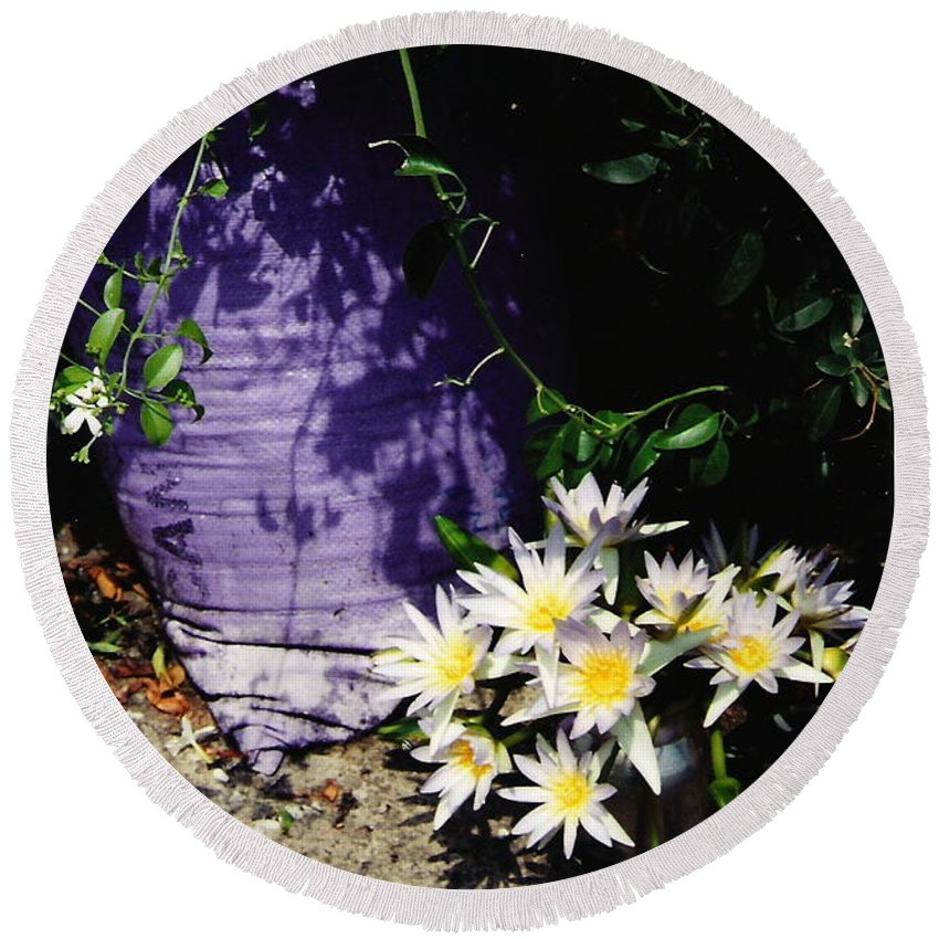 Flowers Round Beach Towel featuring the photograph Children's Lotus Boquet by Sherry Oliver